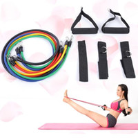 11pcs Set Natural Rubber Latex Fitness Equipment Resistance ...