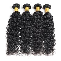 4 Bundles Remy Human Hair Water Wave Double Weft Malaysian V...