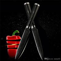 """Marca 5"""" de Damasco cuchillo de cocina de acero cortante cocinero cuchillo de cocina cuchillo"""