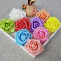 7CM Artificiale Rosa PE Schiuma Decorativa 02 Testa di Fiore Per FAI DA TE Flower Wall Wedding Kissing Ball arco decorazione 13 colori