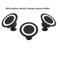 Qi Wireless Charger Dock Magnetic 360 Rotating Mount Car Hol...