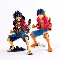 2 kleuren 18 cm anime een stuk koning van de kunstenaar The Monkey D. Luffy versie Boxed PVC Action Figure Collectible Model speelgoed Gratis verzending