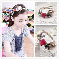 4 color England Style Girls Hair Sticks Lovely Plaid Bowknot...