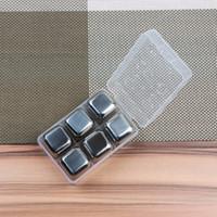 Ghiaccio in acciaio inox Whiskey Stones Bevande Cooler Cubes Birra Rocks Vinho Wine Accessories Spedizione gratuita ZA4353