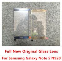 Nouvelle Lentille En Verre Pour Samsung Galaxy NOTE 5 N920 Complet Original Couvercle En Verre Extérieur Livraison Gratuite