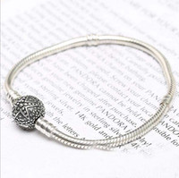Fit pandora star bracelet in 925 silver women snake chain St...