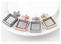 Neue Parfümflasche Anhänger Medaillons Zink-Legierung Glas DIY Charme Glatte Medaillon Schmuck Zubehör für Armbänder Schwimm- und Ketten