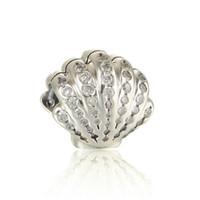 Подвески бусины для браслетов ариэльской оболочки S925 стерлинговые серебряные украшения для ювелирных изделий для DIY стиль браслета и ожерелье 791574CZ