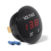 DC 12V 24V Автомобильный аккумулятор Напряжение LED Дисплей Водонепроницаемый вольтметр