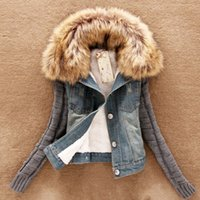 Wholesale- 4xl casaco feminino winter women fashion denim ja...