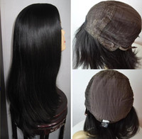 10A Grade Human Hair Black Color#1B Best Sheitels 4x4 Silk T...