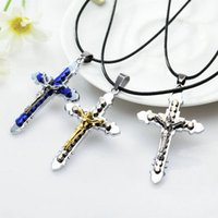 Cross Necklaces Jesus Christ Crucifix Catholic Cross Pendant...