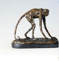 Vintage ARTISTA ARTISTICA Bronzo Animale Scultura Bronzo Figurina similea Gambe lunghe decorazione domestica