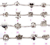 Pandora Beads Charms with Hollow Full Love Heart Bead Charm ...