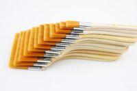 12pcs / Set brosse peinture à l'huile de nylon de haute qualité Mao Banshua, brosse pour barbecue art peinture facile à nettoyer les brosses de nettoyage en bois
