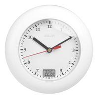 Termómetro de Baldrom Relojes de pared Relojes de pared Pantalla de temperatura Colgada de la pared mediante tazas de succión Reloj de reloj de ducha a prueba de agua analógico