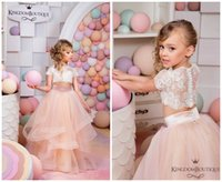 2016 Two Pieces Ruffles Flower Girls Dresses For Weddings Ch...
