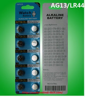 400cards / الكثير 1.5 فولت AG13 LR44 A76 القلوية زر بطارية مشاهدة البطارية 100٪ الطازجة 0٪ زئبق