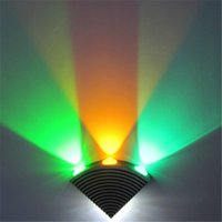 High Power LED Wall Lamps Up and Down Metal Triangle Novelty...