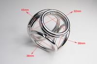 Edelstahl Metall 4-Loops Penis Ring Keuschheitssperre, Penis-Klammer, Cockring, Cock-Klammer, Spiele für Erwachsene, Sexspielzeug