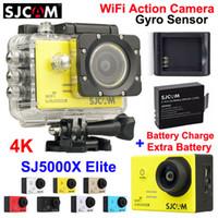 100% Orijinal SJCAM SJ5000X Elite WiFi Eylem Kamera 4 K 24fps 2.0 LCD 30 M Su Geçirmez Gyro Ekstrem Sporlar Kamera + Ekstra Pil + Şarj