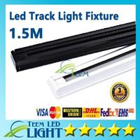 1 m 1.5 m Kalınlaşmak led Parça ışık Fikstür 85 v-265 V Tracklights Siyah Beyaz Parça ışık Spot Armatür bağlayıcı bağlayıcı Garanti 3 yıl 1010