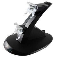 듀얼 충전 스탠드 플레이 스테이션 용 USB 충전기 독 스테이션 DualShock 4 PS4 XBOX ONE 컨트롤러 게임 패드 마운트 홀더 LED 라이트 비행기