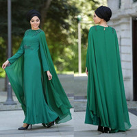 Elegant 2018 Dubai Arabric Long Sleeves Evening Gowns With C...