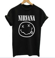 Nuova t-shirt manica corta NIRVANA DONNA Summer style cute style Fashion lady T Shirt Print