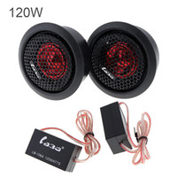 Two pcs 120W Car Dome Tweeter Audio Loudspeaker Car Stereo Treble Speer Subwoofers for Car CA_400