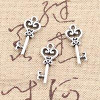 Подвески скелет ключ 21 мм античный делая кулон подходят, старинные Тибетского серебра, DIY браслет ожерелье