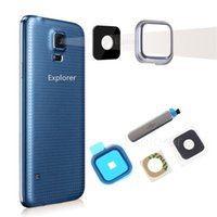 Originale di ricarica USB Proof Port Plug Water Block lente copertura posteriore della macchina fotografica di vetro per Samsung Galaxy i9600 S5 G900A G900T VS G900P G900F