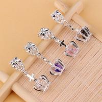 100pcs 4 Farben DIY Kristallrhinestone Crown baumeln Korn passender Charme-europäischer Armband-Anhänger mit Zubehör