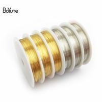 BoYuTe 1 рулон 0.3/0.4/0.5/0.6/0.8/1 мм Диаметр металлическая медная проволока аксессуары бисером проволока Diy ювелирных изделий