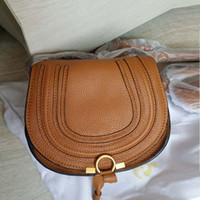 Women Fashion Genuine Leather Saddle Bag Semi Circular Vinta...