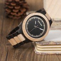 2018 горячий BOBO BIRD новая мода роскошные мужские часы деревянные часы Ebony красное дерево сосна двухцветные деревянные бизнес кварцевые часы