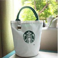 كبير ستاربكس قماش حمل حقيبة حقيبة يد برميل الشكل الكتف ECO 11 أنماط حقيبة التسوق غداء حقيبة