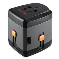 Все в одном универсальный международный штекер адаптер 4 USB порт мира путешествия адаптер переменного тока зарядное устройство с AU США Великобритания Европейский штекер