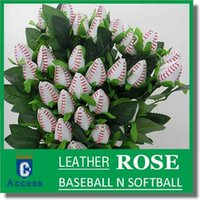 野球バラ - シングルロングステムレザーバラ - 野球の結婚式のテーマ