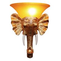 Antik Reçine Altın Fil Merdiven Durumda Duvar Lambaları Yaratıcı Yatak Odası Başucu Oturma Odası Duvar Işıkları Koridor Koridor Koridor Duvar Aplikleri