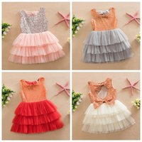 baby toddler girl summer dress bow sequined dress sleeveless...