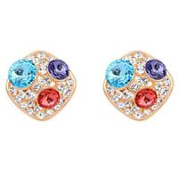 مصنوعة من بلورات من Swarovsk Stud Earrings Fashion Jewelry Wome Stud Earrings الأزياء والمجوهرات النسائية زينة Anniversary Gift 16694
