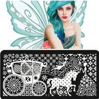 Neue Serie Nail Stamping Platten Konad Stempel Nail Art Vorlage Maniküre Werkzeuge Nagel Vorlage Stamping Platten 1 stücke Von