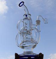 """11.2 """"Glasbong Wasserleitungen Incycler Wasserleitungen Barrel Recycler Recycler mit zwei Zubehör 14.4mm Gelenk"""