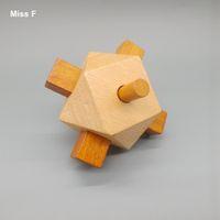 Juego clásico de madera Kong Kong Ming Lock Puzzle Juguete Niños Desmontaje Bloqueo Problema