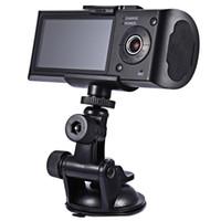 Araba dvr HD Araba Kamera Dvr GPS Kaydedici Çift Lens Kamera Dash kamera Arka 2 Araç Görünümü Dashboard Ile Ir Led Gece Görüş ücretsiz kargo