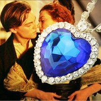 Titanic The Heart of the Ocean sea necklace Circle rhineston...