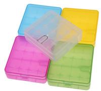 Caja de almacenamiento de batería de plástico de alta calidad 4 * 18650 caja contenedor de batería 18650 colorido para 4 * 18650 batería envío libre de DHL