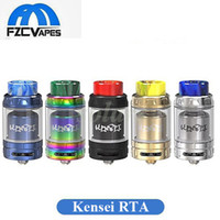 Authentique Vandyvape Kensei 24 RTA Réservoir 24mm Diamètre Rebutable Réservoir Atomiseur 5 Couleurs Double Bobine Recombine Vandy Vape 100% Original