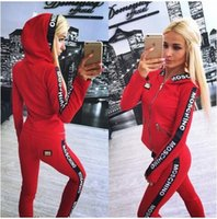2016 New Fall Women Clothes Sets Tracksuits 2 Piece Set Hood...